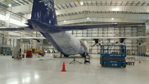 Laser Scanning of C130 airplane